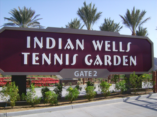 Indian Wells CA Tennis Garden Sign