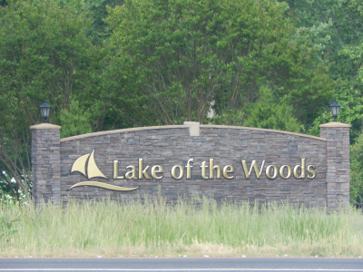 Lake of the Woods, VA sign