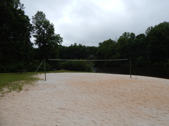 Lake Wilderness, va volleyball on sandy beach