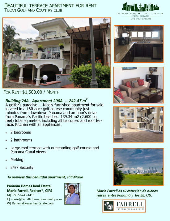New Listing in Tucan Golf and Country Club Panama