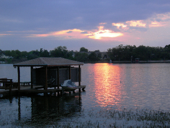 Sunset on Lake Olympia
