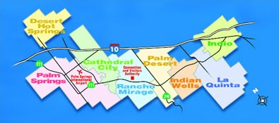 Palm Springs, Palm Desert, Rancho Mirage, Indian Wells, La Quinta City
