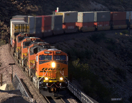 Railway Going into Kingman Arizona