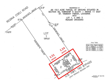 1.24 & 1.51 Acres RONALD REAGAN HWY, COVINGTON